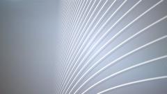 futuristic curves and lines white abstract motion background - stock footage