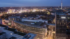 Hamburg City with Hamburger DOM Top View Time Lapse Stock Footage
