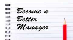 Become a Better Manager - stock photo