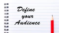 Define Your Audience - stock photo