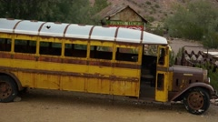 Eldorado Canyon mine tours. Old school bus. Arkistovideo