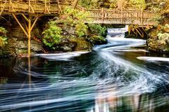 Little Bushkill creek Stock Photos