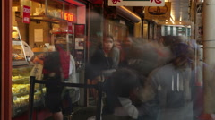 Pike Place Market, Shopping, Crowds, Seattle Stock Footage