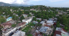 Drone shot of Kingston neighborhood Stock Footage