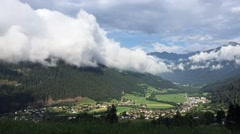 Green Valley time-lapse in Austria Stock Footage