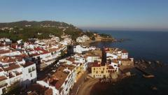 Mediterranean Village Aerial Shoot at Sunset Stock Footage