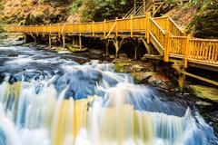 Waterfall on Little Bushkill creek Stock Photos