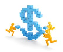 Making money concept Stock Illustration