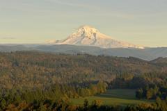 Mt. Hood from Jonsrud Viewpoint Sandy Oregon. - stock photo