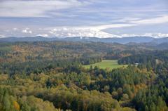Stock Photo of Mt. Hood from Jonsrud Viewpoint Sandy Oregon.