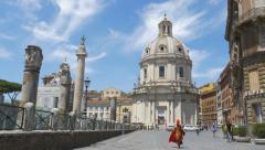 Santissimo Nome di Maria al Foro Traiano Church. Rome, Italy. Stock Footage