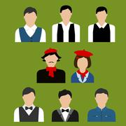 Art and culture professions flat avatars Stock Illustration