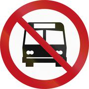 Custom sign prohibiting buses in New Zealand Piirros