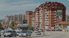 New buildings in Pristina Stock Footage