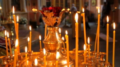 Church candles. Stock Footage