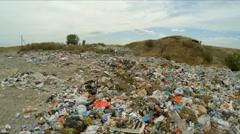 Huge Garbage Dump Outside City In Ukraine Stock Footage