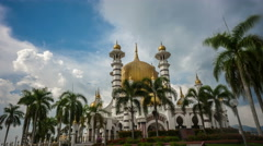 Time Lapse - Daylight at Ubudiah Mosque, one of the oldest mosque in Malaysia. Stock Footage