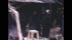 Vintage 16mm film, 1970, Iran, people market drive plate Stock Footage
