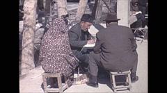 Vintage 16mm film, 1970, Iran, people market Stock Footage
