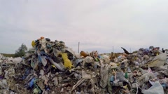 Large Piles Of Garbage And Wastes Outside City Stock Footage