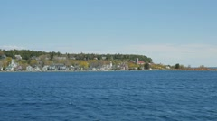 Tracking of Mackinac island Stock Footage
