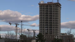 New condo tower going up in Markham at Toronto border Stock Footage