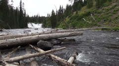 Lewis Falls 1 Seamless  video Stock Footage
