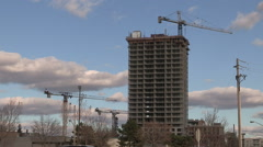 Stock Video Footage of New condo tower going up in Markham at Toronto border