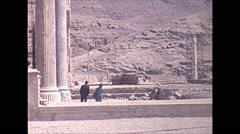 Vintage 16mm film, 1970, Iran, ruins of Persepolis Stock Footage