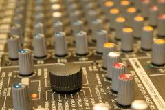 Sound mixer control Stock Photos
