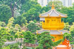 Chi lin temple in nan lian garden Stock Photos