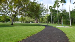 Coconut Grove fitness trail Stock Footage