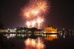 Fireworks Chanthaburi. Stock Photos