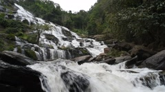 Mae Ya waterfall in Doi Inthanon National Park,Thailand Stock Footage