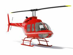 Helicopter isolated on a white background Stock Illustration
