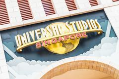 SINGAPORE - November 7: Tourists and theme park visitors Attraction in Univer - stock photo