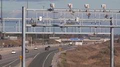 Ontario highway 407 toll road Stock Footage
