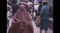 Vintage 16mm film, 1970, Pakistan, Peshawar, crowded market #2 Stock Footage