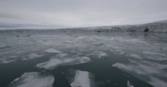 Pack Ice in Arctic Glacial Bay Stock Footage