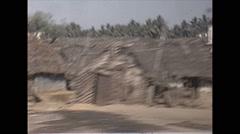 Vintage 16mm film, 1970, India, drive plate rural handheld rough - stock footage