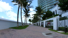 Bal Harbor beach access Stock Footage