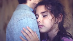 Teen girl says goodbye to the sadness of parting boy love Stock Footage