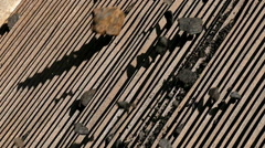 Coal on the grid for separation Stock Footage