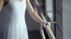 Girl practicing ballet in the Studio Stock Footage