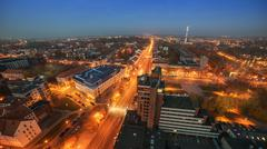 Aerial picture of Klaipeda, Lithuania Stock Photos