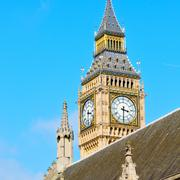 London big ben and historical old construction england  aged city Stock Photos