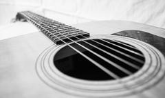 High-end Acoustic Guitar - stock photo