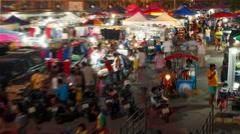 Time lapse shot of a Weekend market in samutprakarn ,Thailand Stock Footage
