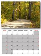 Stock Illustration of october calendar page with nature image