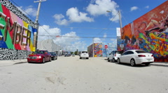 Wynwood art walls 1 Stock Footage